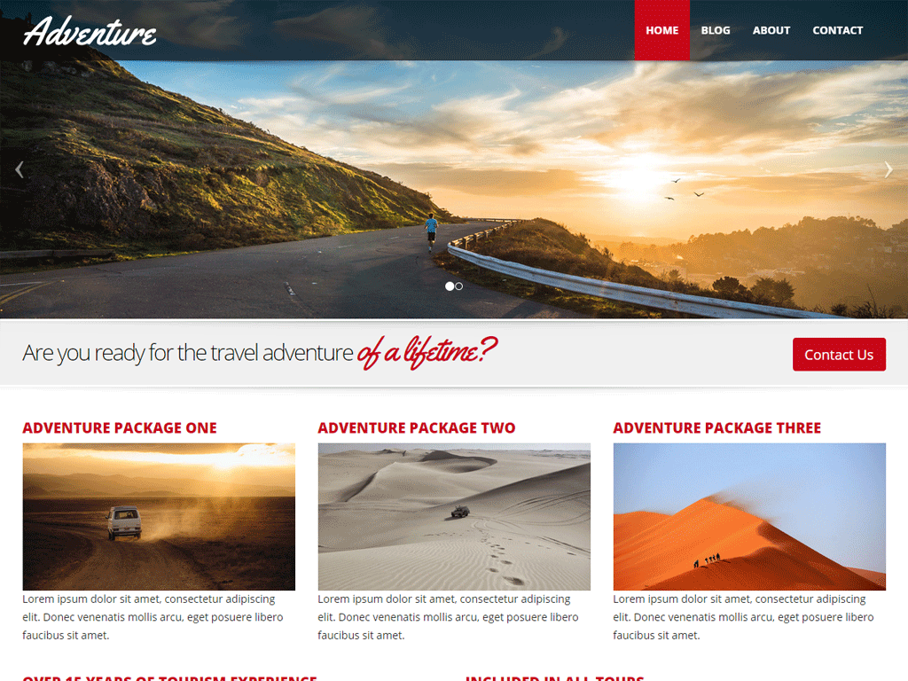 Adventure - responsive theme for Boombox CMS